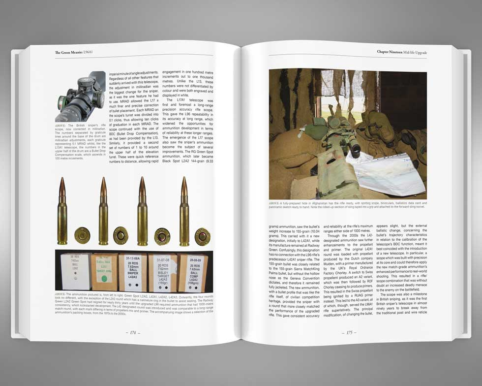 The Green Meanie L96A1 rifle book pages 174 & 175