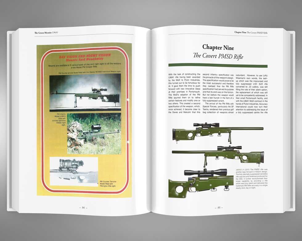 The Green Meanie L96A1 rifle book pages 94 & 95